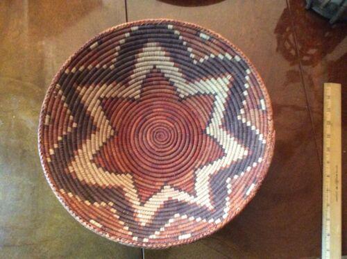 Authentic Handwoven African Zulu  Bowl /Basket  14 x 4.5