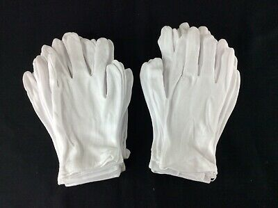 24 White Color 3565 Poly-cotton Gloves - Free Shipping
