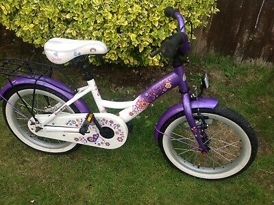 Girlls Bike Star White & purple bike 16 inch wheels