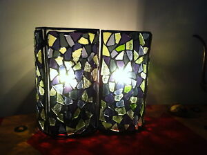 Mosaic handmade 2 panel lamp
