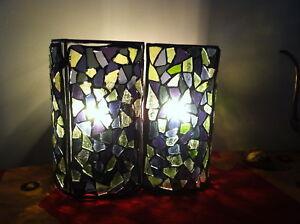 Mosaic handmade 2 panel lamp