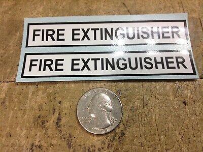 2 Military Vehicle Fire Extinguisher Location Sticker M998 Hmmwv M113 M1078