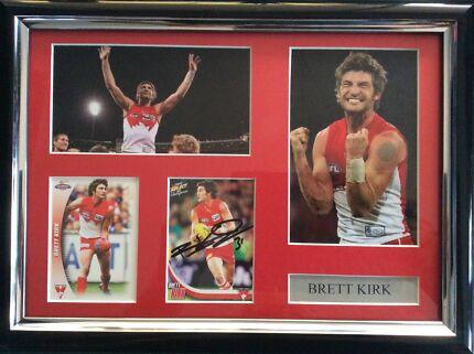 Signed Brett Kirk Sydney Swans Afl Frame