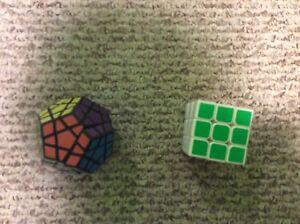 Two Rubio cubes 3 by 3 mega minx