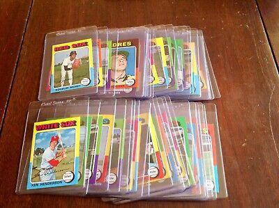 1975 Topps Mini's BB Singles U-Pick (NRMT-NMMT) Set Break(Free Shipping) 1-99 Free Mini Pick Set