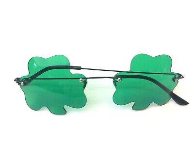 Vintage Used Green Clover Lens Irish St Patricks Day Parade Sunglasses Glasses - St Patricks Day Sunglasses