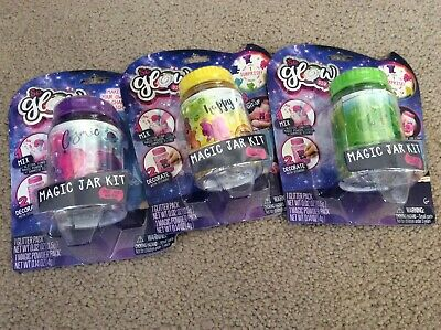 Lot of 3 NEW So Glow DIY Magic Jar Kit  - Diy Glow Jars