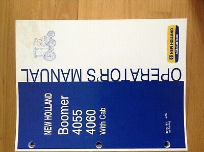 New Holland Boomer 4055 4060 Wcab Tractor Operators Manual 87477193
