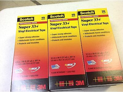 Scotch Super 33+ Vinyl Electrical Tape, 3/4 x 66 ft   30 rolls
