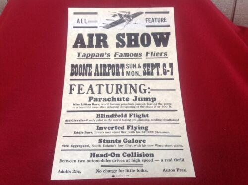 Tappan Airshow Poster 1920s and 1930s