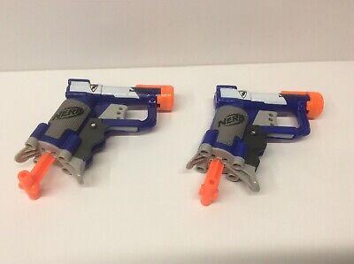 Nerf Jolt Lot of 2 N-Strike Hasbro Blue Tested Dart Guns