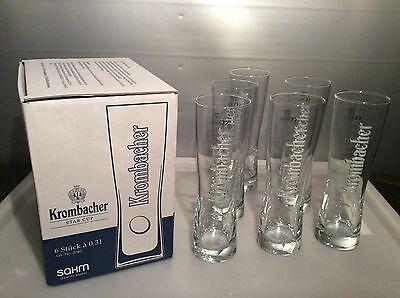 Krombacher Glas / Gläser Star Cup 0,3 L im 6 er Karton