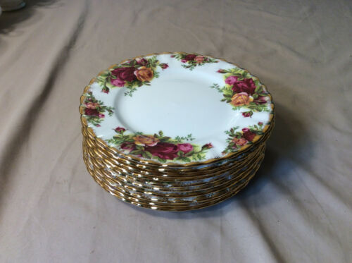Royal Albert Old Country Roses Dessert Plate Original Stamp Four (4) Available