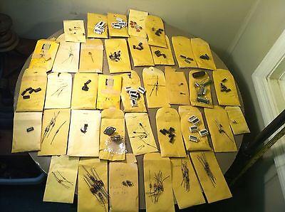 Huge Mixed Lot Resistors Semiconductors Transistors Capacitors Diodes Chips Etc.