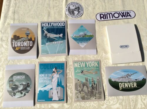 Brand New Set of 9 Rimowa Stickers, JU52 Aircraft Series, Very Limited, pre-LVMH