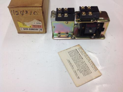 Allen Bradley 849-Z0D331 Ser. B Pneumatic Time Relay 110/120v NEW SURPLUS IN BOX