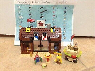LEGO SpongeBob Krusty Krab Adventures #3833 Complete w/ Minifigs