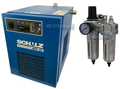 Schulz 35 Cfm Refrigerated Compressed Air Compressor Dryer 115v Complete Kit