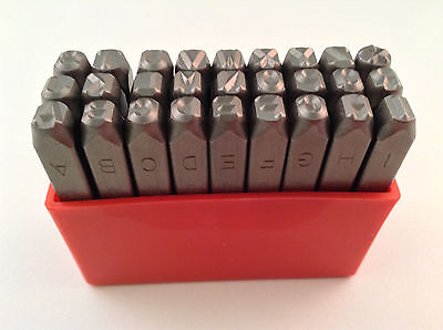 27pc 316 5mm Letter Stamp Punch Set Hardened Steel Metal Wood Leather