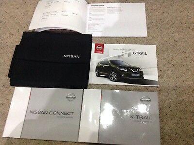 NISSAN X TRAIL HANDBOOK OWNERS MANUAL WALLET 2013-2017 service book sat nav W3