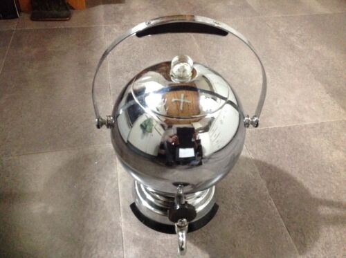 Mid Century Old Atomic Art Deco Chrome Bakelite Manning Bowman Coffee Percolator