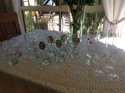 Assorted beer and champagne glassed Yowie Bay Sutherland Area Preview