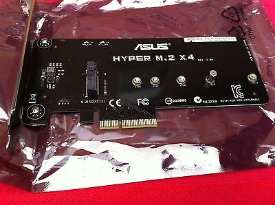 ASUS HYPER M.2 X4 ACCESSORY FOR ASUS MAXIMUS VIII HERO ,RAMPAGE V  ,ORIGINAL