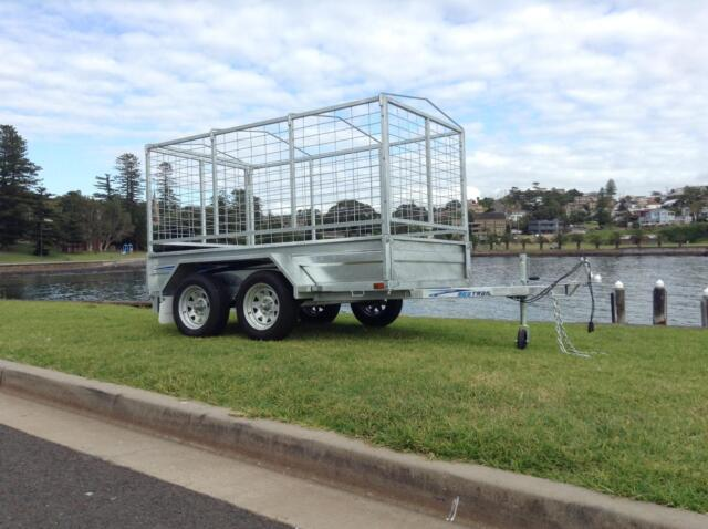 Seatrail box plant trailer galvanised dual tandem