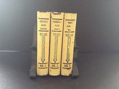Recipe Holders (Vintage Metal Library Book Recipe Box Holder- with recipes-rare)