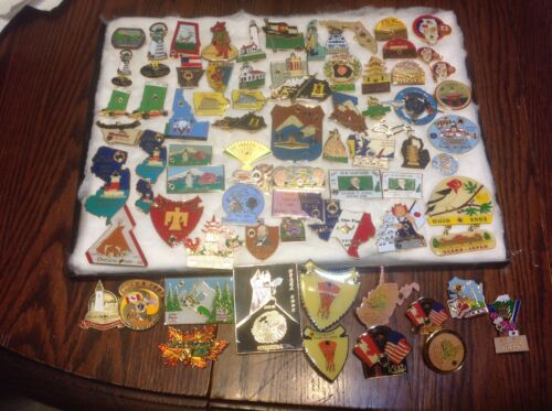 Lions Club Pins: Vintage Lot of 72 Pins, 2002