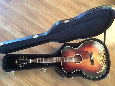 1930s OAHU Model 71K Hawaiian  Jumbo Deluxe Guitar with HSC. Reduced price.