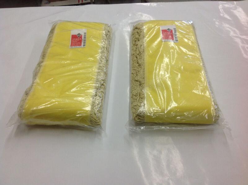 "(2) Tough Guy Grainger 1TZC3, 48"" x 5"" Commercial Yellow Dust Mop Looped End NEW"