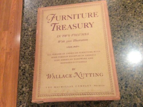 VINTAGE FURNITURE TREASURY IN TWO VOLUMES WITH SLIP COVER BY WALLACE NUTTING1925