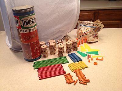 Vintage Tinkertoy Tinker Toy Questor 1972 No 136 Junior Architect 121 Pcs Instr - Junior Architect