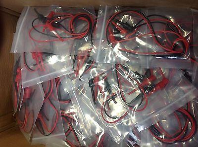 Lot Of 50  Non Brand 3781 Minigrabber Test Clip Patch Cords Set 36in