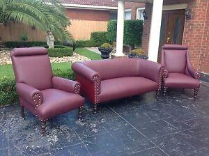 Antique 3 Seater Lounge Set Mulgrave Monash Area Preview