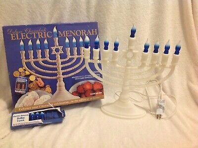 Rite Lite Deluxe Jewish Chanukah Electric Light Up Menorah 9 Holders Bulbs Box