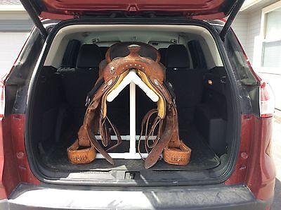 COOL SADDLE RACK TALLER WESTERN SADDLE PVC RACK STAND CAR HATCHBACK - FALL SALE!