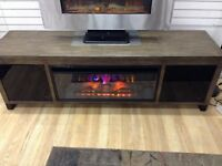 New fireplace tv stand at Waterloo restore