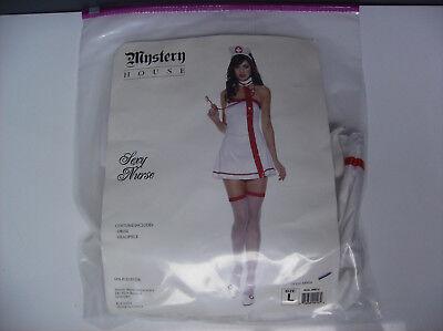 SEXY NURSE WOMEN HALLOWEEN COSTUME LARGE - Nurse Halloween