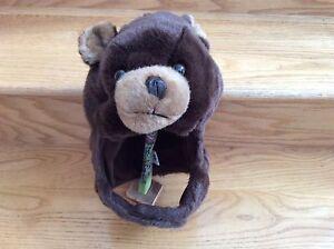 Kids Brown Teddy Bear Winter Hat