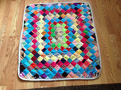Handmade Patch Pattern Baby Comforter Multi colored