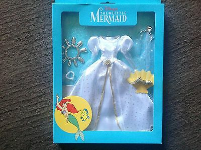 Disney ariel Little mermaid doll wedding bridal gown rare dress set sealed new