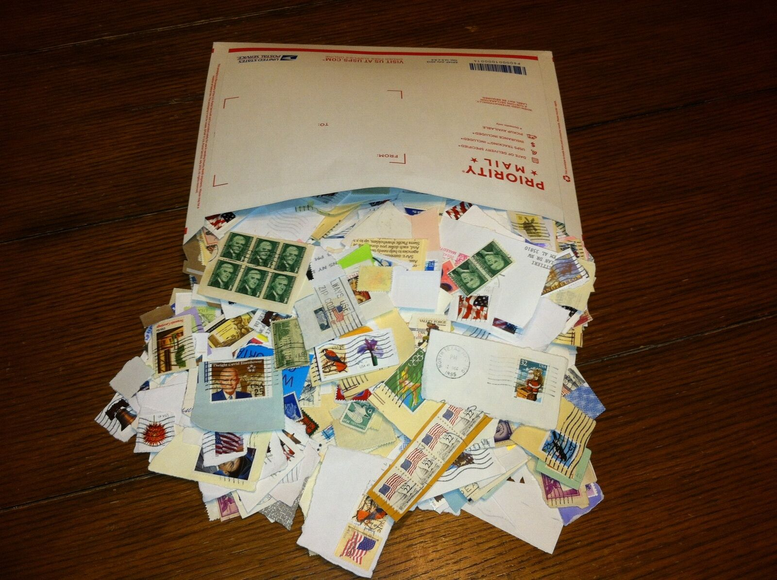 Bulk 1 Pound Envelope Filled Stamps on Paper ** Kiloware Stuff Lot Bargain **