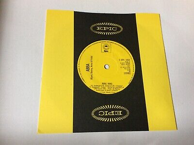 """Abba Ring Ring - 2nd UK 7"""" vinyl single record SEPC2452 EPIC 1973***EX COND***"""