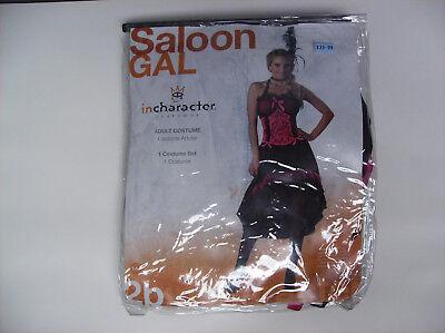 IN CHARACTER SALOON GAL WOMEN HALLOWEEN COSTUME LARGE - Saloon Gal Costume