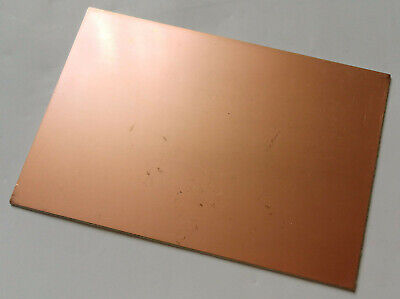 1pc Double Sided Fr4 Copper Sheet Plate Laminate Board Copper Clad Pcb 10x15cm