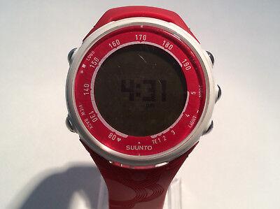 Suunto T3d Unisex Watch Digital Dial Day Date Alarm Red Band Quartz