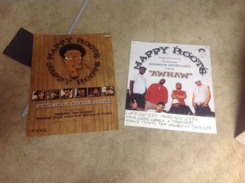 2 CD lp PROMO Posters NAPPY ROOTS music. kentucky wildcats original rap ky RARE!