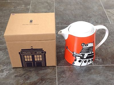 DR DOCTOR WHO GIFT NOVELTY PRESENT - KITCHEN - ORANGE DALEK TEAPOT - RRP £45